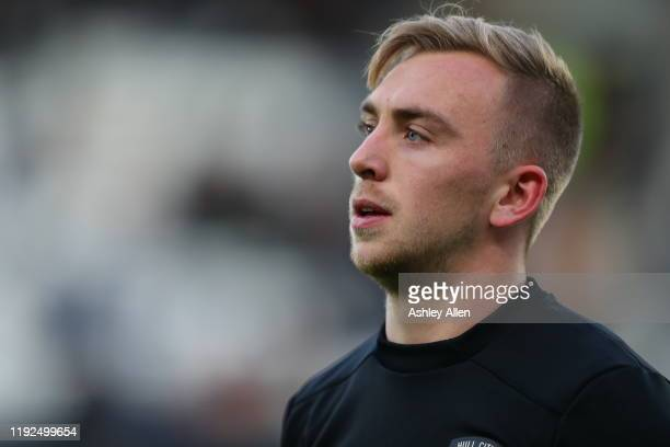 Jarrod Bowen of Hull City during the Sky Bet Championship match between Hull City and Stoke City at KCOM Stadium on December 07 2019 in Hull England