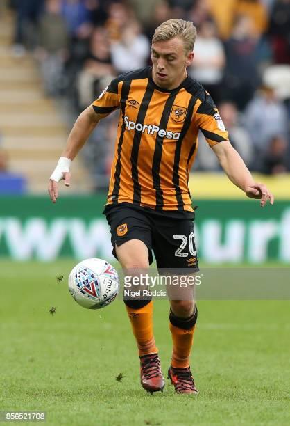 Jarrod Bowen of Hull City during the Sky Bet Championship match between Hull City and Birmingham City at KCOM Stadium on September 30 2017 in Hull...