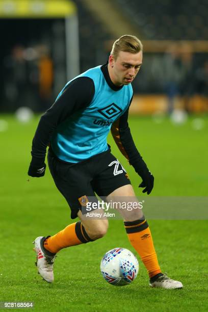 Jarrod Bowen of Hull City during the Sky Bet Championship match between Hull City and Millwall FC at KCOM Stadium on March 6 2018 in Hull England