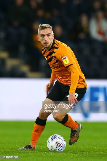 Jarrod Bowen of Hull City in action during the Sky Bet Championship match between Hull City and Birmingham City at KCOM Stadium on December 21 2019...