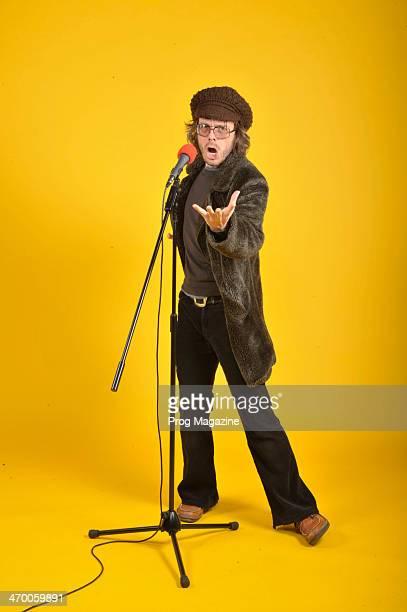 Jarrod Gosling mellotron and glockenspiel player of British progressive rock band Henry Fool photographed during a portrait shoot for Prog...