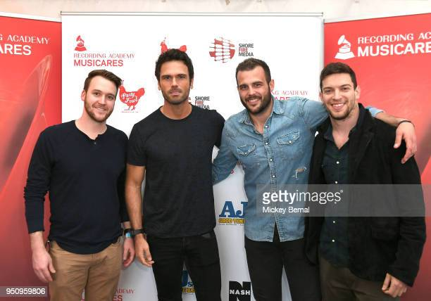 Jarrod Holley of Suit Music Chuck Wicks Host/Artist of Nash FM's 'Ty Kelly and Chuck' Recording Artist jackie Lee and Andrew Cohen of Suit Music...