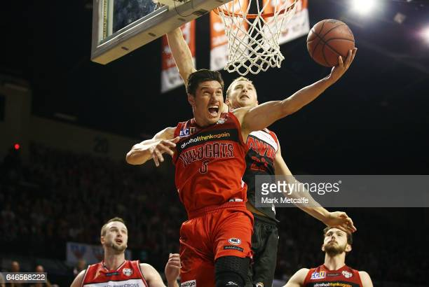 Jarrod Kenny of the Wildcats drives to the basket during game two of the NBL Grand Final series between the Perth Wildcats and the Illawarra Hawks at...