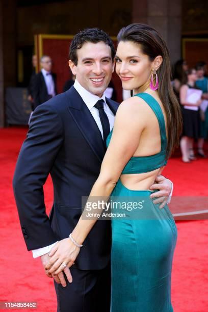 Jarrod Spector and Kelli Barrett attend the 73rd Annual Tony Awards at Radio City Music Hall on June 09 2019 in New York City