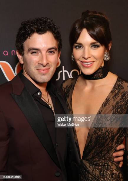 Jarrod Spector and Kelli Barrett attend the After Party for the Broadway Opening Night of 'The Cher Show' at Pier 60 on December 3 2018 in New York...