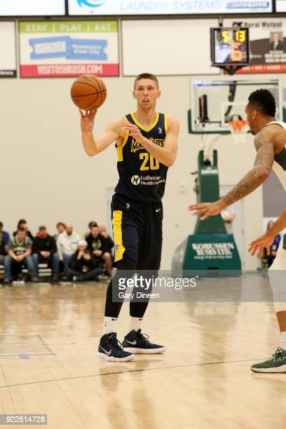 Jarrod Uthoff of the Fort Wayne Mad Ants handles the ball during the game against the Wisconsin Herd on FEBRUARY 21 2018 at the Menominee Nation...