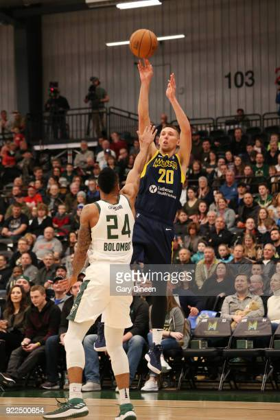 Jarrod Uthoff of the Fort Wayne Mad Ants shoots the ball during the game against the Wisconsin Herd on FEBRUARY 21 2018 at the Menominee Nation Arena...