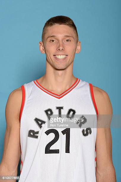 Jarrod Uthoff of the Toronto Raptors poses for a head shot during the 20162017 Media Day on September 26 2016 at the BioSteel Centre in Toronto...