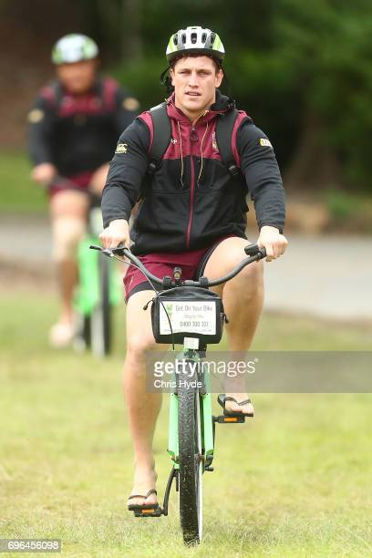 Jarrod Wallace arrives for the Queensland Maroons State of Origin team during a training session at Intercontinental Sanctuary Cove Resort on June 16...