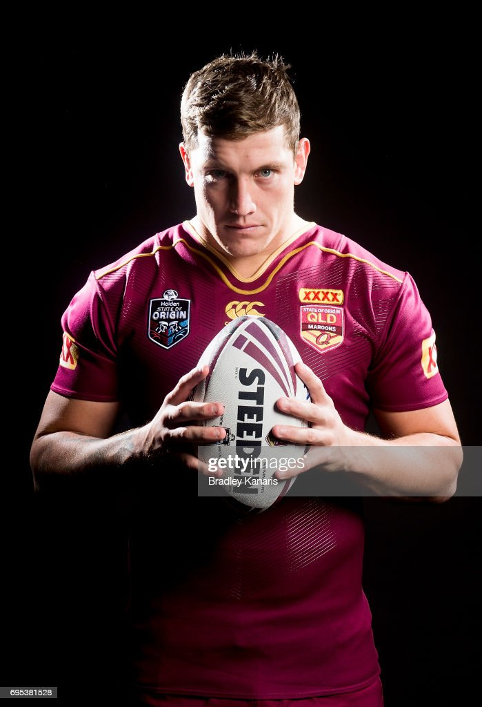 Jarrod Wallace poses for a photo during a Queensland Maroons State of Origin media session at the Rydges Hotel on June 13, 2017 in Brisbane, Australia.
