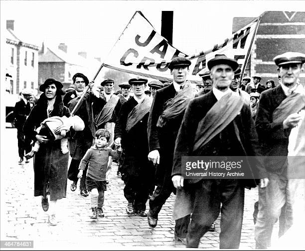 Jarrow March of unemployed miners and shipbuilders from North East England set out on 5 October 1936 to march the 280 miles to London to petition...