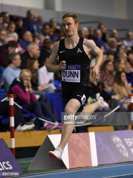 Jarryd Dunn competes in the mens 400 metres during the British Athletics Indoor Team Trials 2017 at English Institute of Sport on February 11 2017 in...