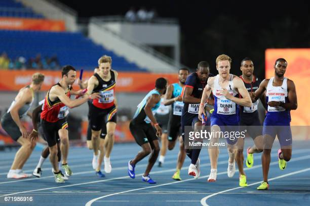 Jarryd Dunn of Great Britain competes in heat one of the Men's 4 x 400 Relay during the IAAF/BTC World Relays Bahamas 2017 at Thomas Robinson Stadium...