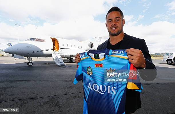 Jarryd Hayne during a press conference at Gold Coast Airport on August 3 2016 in Gold Coast Australia