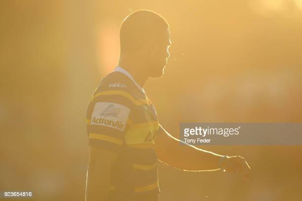 Jarryd Hayne of the Eels during the NRL Trial Match between the Newcastle Knights and the Parramatta Eels at Maitland No 1 Showground on February 24...