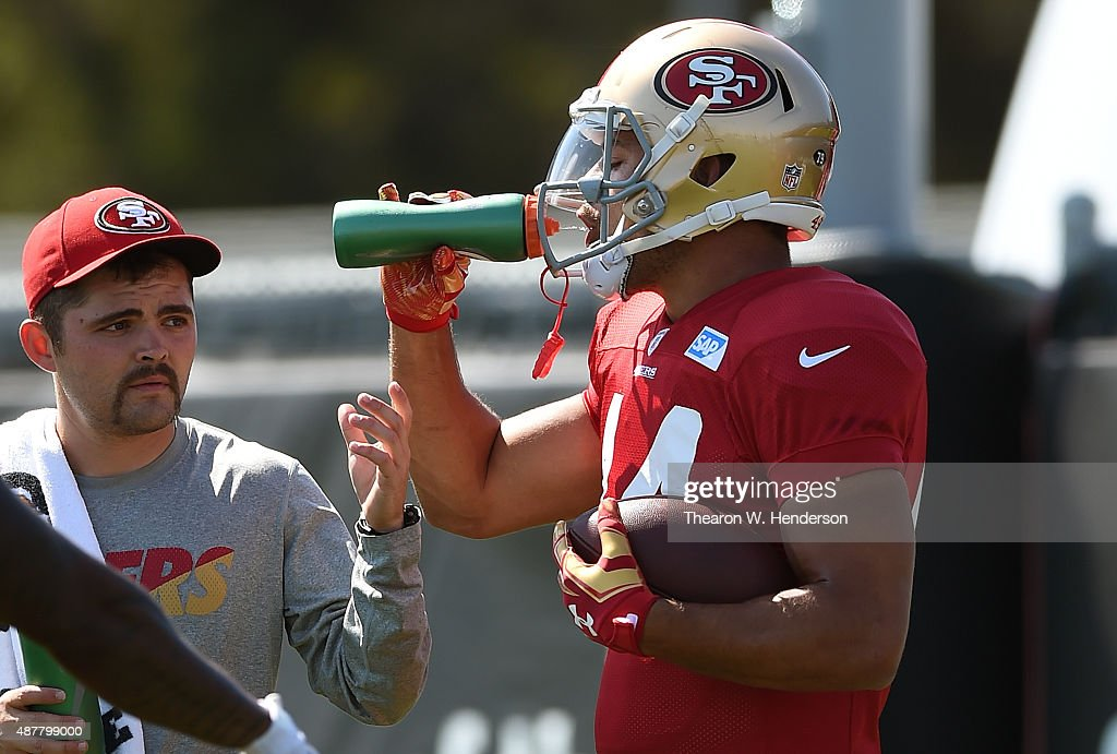904e30b78 Jarryd Hayne of the San Francisco 49ers is wearing jersey while ...