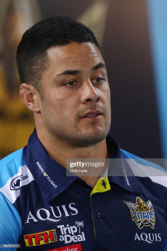 Jarryd Hayne of the Titans looks on during the round three NRL match between the Gold Coast Titans and the Parramatta Eels at Cbus Super Stadium on March 17, 2017 in Gold Coast, Australia.