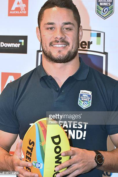 Jarryd Hayne poses for a photo during media conference in Auckland New Zealand Jarryd Hayne is a world class international NRL player He announces he...