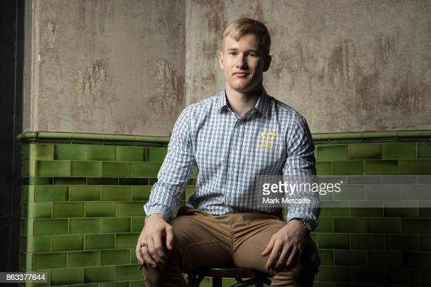 Jarryd Hughes poses ahead of the Australian Olympic Committee 2018 Winter Olympic Games uniform launch at The Palisade Hotel on October 20 2017 in...