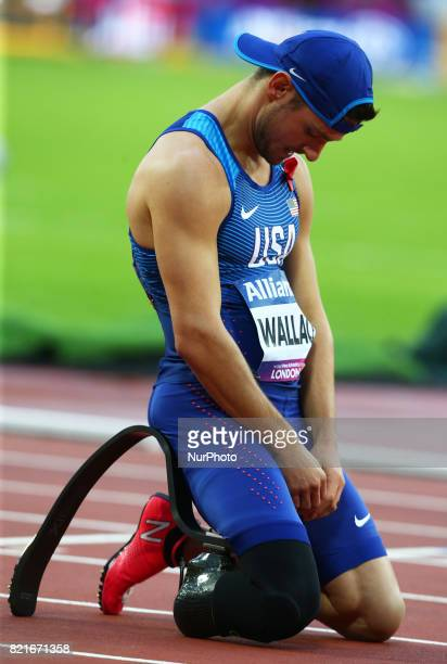 Jarryd Wallace of USA winner Men's 100m T44 Final during World Para Athletics Championships at London Stadium in London on July 22 2017