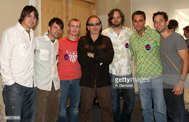Jars of Clay Bono and Michael W Smith during Bono and DATA Announce THE ONE CAMPAIGN at Independence Hall in Philadelphia PA United States