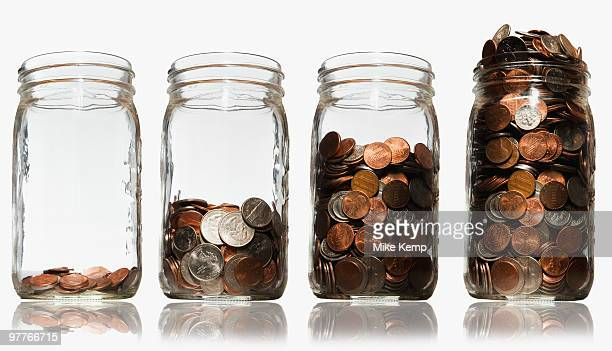 Jars of coins