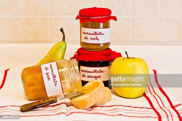 Jars of Fruit Jam