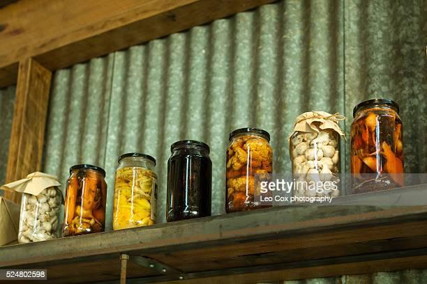 jars of preserved goods