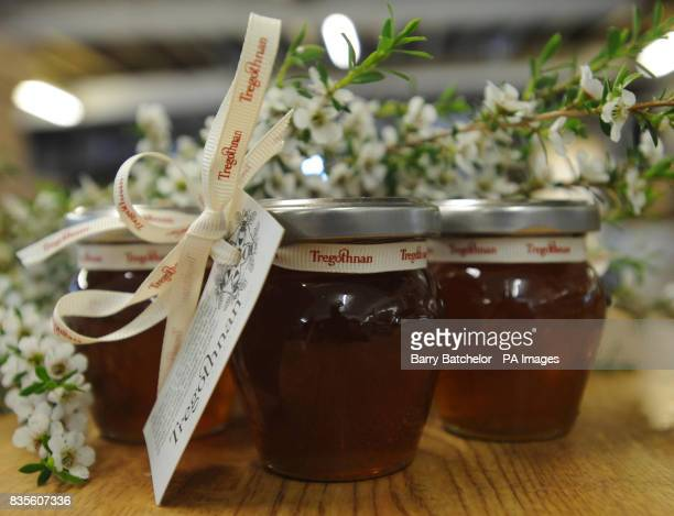 Jars of Tregothnan Manuka Honey which is the first manuka honey to be produced in the UK and is being sold for 55 a jar