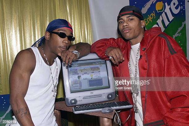 JaRule and Nelly backstage during the launch party for Spritecom at the Roseland Ballroom in New York Photo Scott Gries/ImageDirect