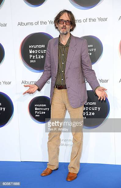 Jarvis Cocker a judge for this years prize poses for a photo at the Hyundai Mercury Prize 2016 at Eventim Apollo on September 15 2016 in London...