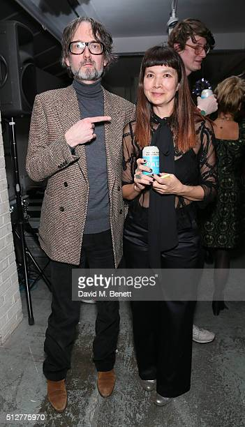 Jarvis Cocker and Deborah Rigby attend the Medecins Sans Frontieres art and music fundraising event on February 27 2016 in London England