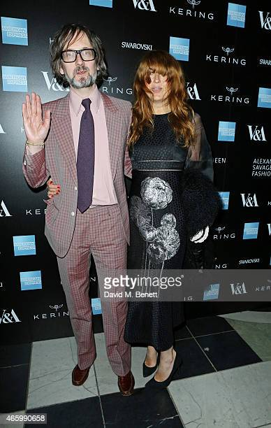 Jarvis Cocker and Kim Sion arrive at the Alexander McQueen Savage Beauty Fashion Gala at the VA presented by American Express and Kering on March 12...