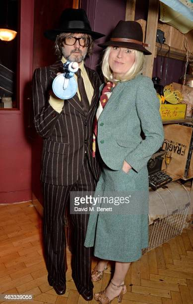 Jarvis Cocker and Kim Sion attend Ellen Von Unwerth's 60th birthday party supported by Ciroc at Steam Rye on January 17 2014 in London England
