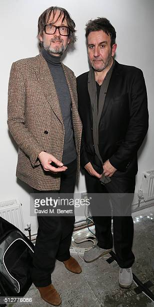 Jarvis Cocker and Terry Hall attend the Medecins Sans Frontieres art and music fundraising event on February 27 2016 in London England