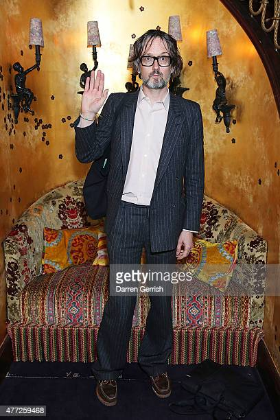 Jarvis Cocker attends Anotherman 10th anniversary party at Lou Lou's 5 Hertford Street Mayfair on June 15 2015 in London England