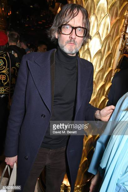 Jarvis Cocker attends the Another Man Spring/Summer Issue launch dinner in association with Kronaby at Park Chinois on March 21 2017 in London England