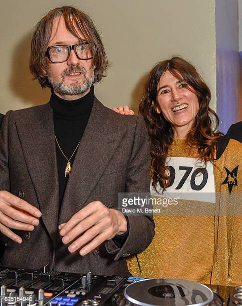 Jarvis Cocker Bella Freud attend the launch of the new Design Museum cohosted by Alexandra Shulman Sir Terence Conran Deyan Sudjic on November 22...