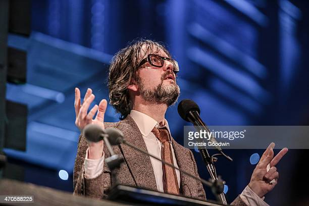 Jarvis Cocker cohosts the BBC Folk Awards at Royal Albert Hall on February 19 2014 in London United Kingdom