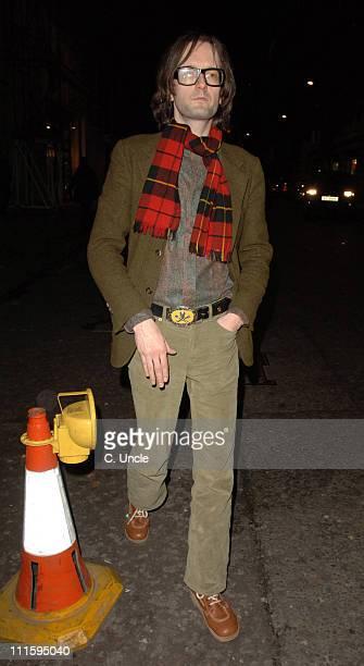 Jarvis Cocker during Celebrity Sightings at Nobu April 03 2006 at Nobu in London Great Britain