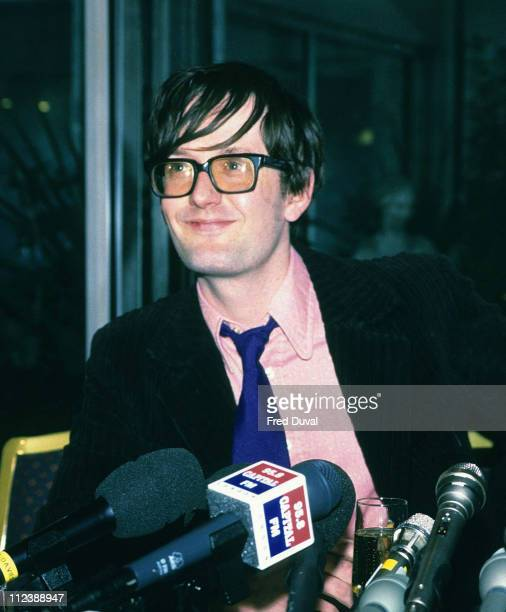 Jarvis Cocker during Jarvis Cocker of Pulp DJing at HMV Oxford Street London October 1st 1997 at HMV Oxford Street in London Great Britain