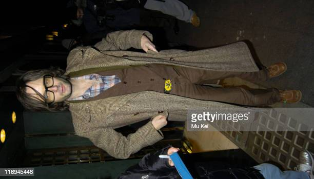 Jarvis Cocker during Jarvis Cocker Sighting at the Ivy Restaurant in London November 17 2005 at Ivy Restaurant in London Great Britain
