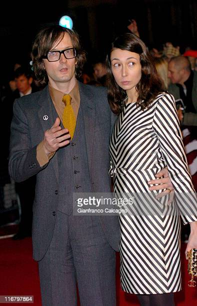 Jarvis Cocker during The Mastercard Brit Awards 2007 Outside Arrivals at Earls Court in London Great Britain