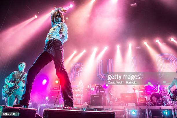 Jarvis Cocker from Pulp performs during Les Inrocks 2012 Festival at L'Olympia on November 13 2012 in Paris France