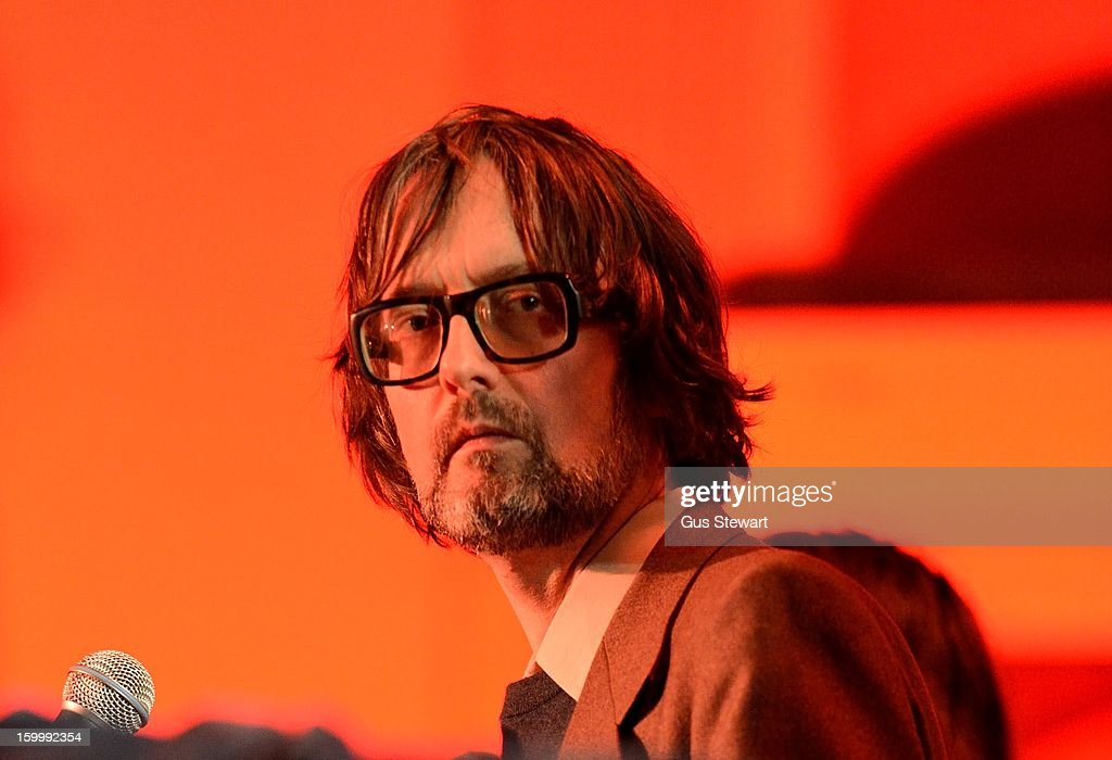 Jarvis Cocker joins Serfina Steer at St Leonards Church on January 24, 2013 in London, England.