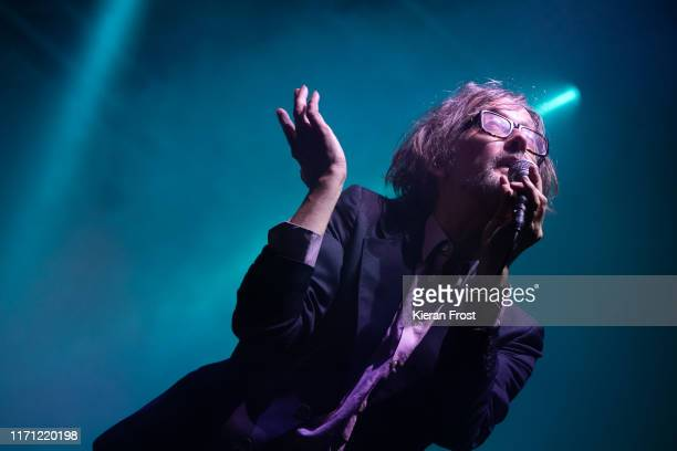 Jarvis Cocker of Jarvis Cocker presents Jarv Is performs on stage during the Electric Picnic Music Festival 2019 at Stradbally Hall Estate on August...