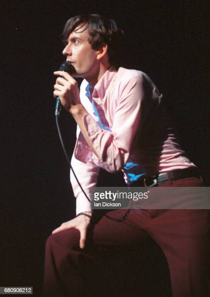 Jarvis Cocker of Pulp performing on stage at The Forum Kentish Town London 20 October 1995