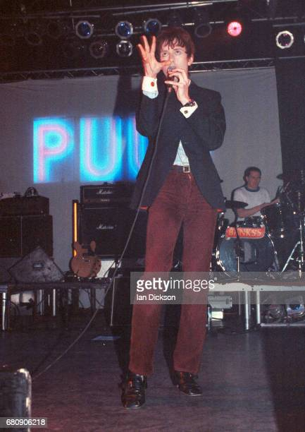 Jarvis Cocker of Pulp performing on stage at The Forum Kentish Town London 06 May 1994