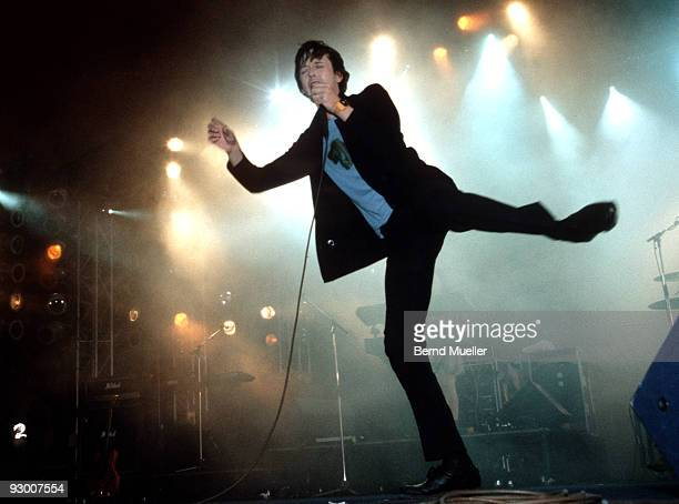 Jarvis Cocker of Pulp performs on stage at Roskilde Festival on June 28th 1998 in Denmark