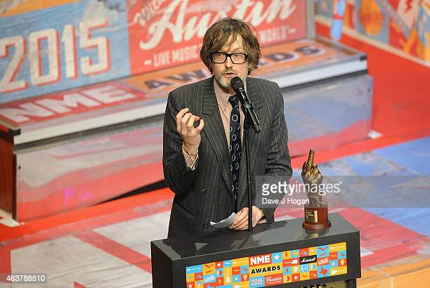 Jarvis Cocker presents at the NME Awards at Brixton Academy on February 18 2015 in London England